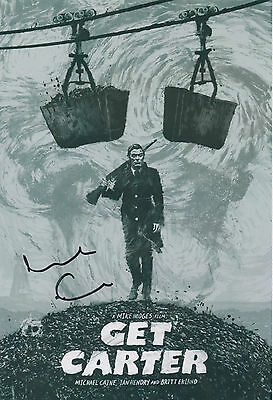 GET CARTER personally signed 12x8 - MICHAEL CAINE