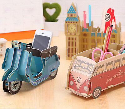 Fab DIY desk make up Pen storage box Remote TV organiser Big Ben Piano Bus Motor