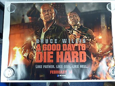 A Good Day to Die Hard Willis Action Original Film Filmposter Quad 76x102cm