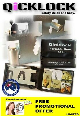 Qicklock - Temporary Portable Security Lock - Privacy Lock -Personal Security