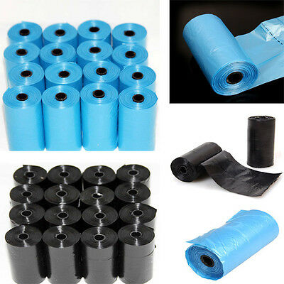20 Rolls Portable 400 Dog Pet Waste Poop Poo Refill Core Pick Up Clean-Up Bags #