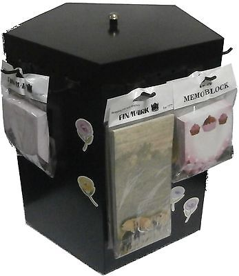 BLACK METAL DISPLAY SPINNER, 5 sided, for counter top