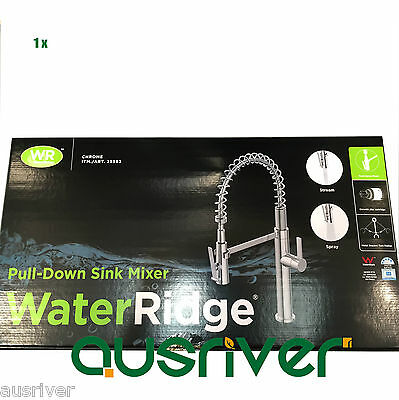 NEW Water Ridge Pull Down Sink Mixer with Twin Action Spray Tap Rating 5 Star