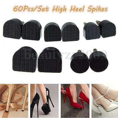 60x High-heeled Shoes Stilettos Repair Spike Tips Taps Pins Replacement 5 Sizes