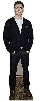 CHRIS EVANS Celebrity Superhero Actor LIFESIZE CARDBOARD CUTOUT / STAND UP