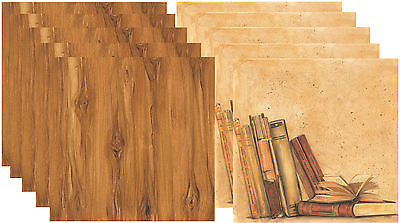 """SCRAPBOOKING PAPER, Library, 10 Pack, 30cm x 30cm, 12"""" x 12"""