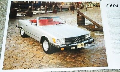 1979 Mercedes-Benz 240 280 300 450SEL 450SL 450SLC 64 Page Deluxe Sales Brochure