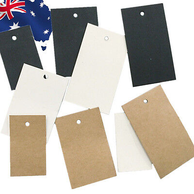 100pcs 5x3cm 6x4cm 7x4cm Plain Clothes Price Tag White Black Brown HNERT30
