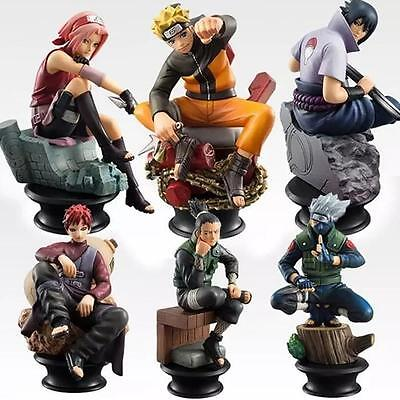 naruto set of 6pcs pvc cute figures doll collection toy new models
