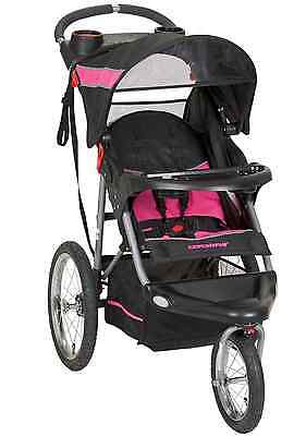 Baby Trend Expedition Jogging City Stroller Pink Black Large Terrain Tire Jogger