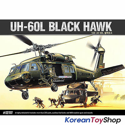 Academy 12111 1/35 Plastic Model Kit US Army UH-60L Black Hawk Helicopter