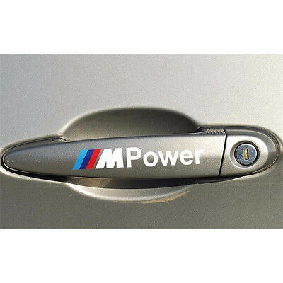 4PC M Power Car Decal Door Handle Auto Stickers Car Styling Decor for BMW Cover
