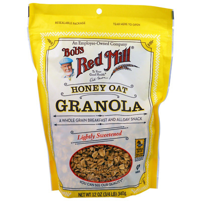 New Bob's Red Mill Honey Oat Granola Cereals Breakfast Foods Gluten Free Lunch
