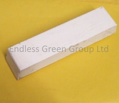 Large White Buffing Bar - Fine Metal Polishing Compound For Aluminium & Chrome