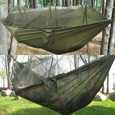 Double Person Outdoor Camping Tent Hanging Sleep Hammock Bed & Mosquito Net