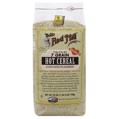 New Bob's Red Mill 7 Grain Hot Cereal Breakfast Flaxseed Baking Cooking Daily