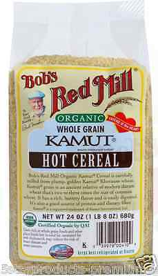 New Bob's Red Mill Organic Kamut Hot Cereal Breakfast Food Low Fat Daily Health