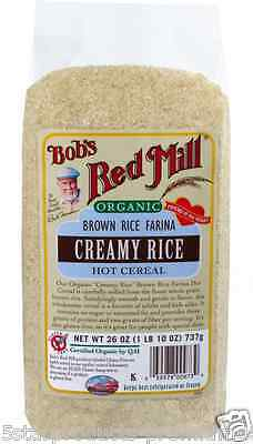 New Bob's Red Mill Organic Brown Rice Farina Creamy Rice Hot Cereal Breakfast