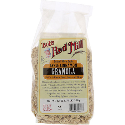 New Bob's Red Mill Organic Whole Grain Apple Cinnamon Granola Cereal Breakfast