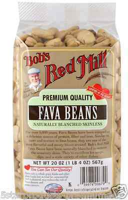 New Bob's Red Mill Fava Beans Naturally Blanched Skinless Low Fat Protein Fiber