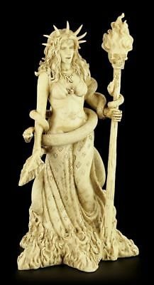 Hecate Figurine - Greek Goddess of the Magic cream colors - Wicca Altar Statue