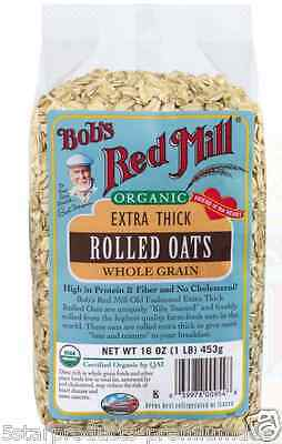 New Bob's Red Mill Organic Extra Thick Rolled Oat Body Care Health Food Grocerie