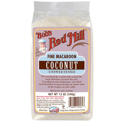 New Bob's Red Mill Fine Macaroon Coconut Unsweetened Dried Fruit Snacks Lunch