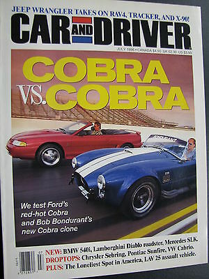 Magazine Car and Driver Issue July 1996 (English) (JS)