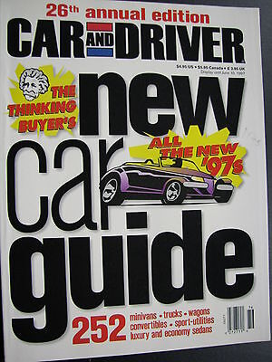 "Magazine Car and Driver Issue 26th Anual Edition ""'97 News"" (English) (JS)"
