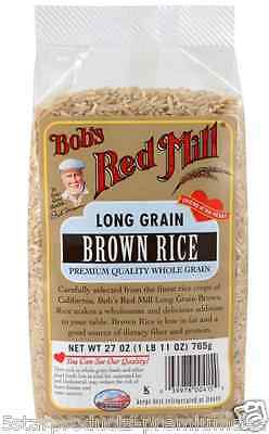 New Bob's Red Mill Long Grain Brown Rice Low Fat Dietary Fiber Protein Lunch
