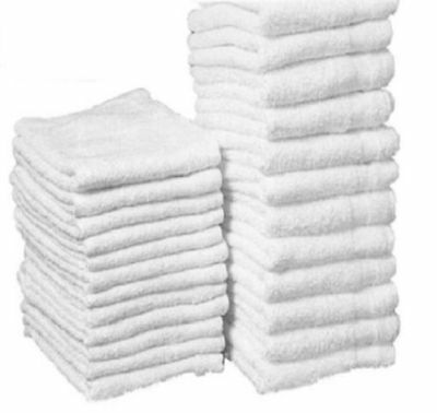 25 Pack Cotton Terry Cloths Shop Rags Towels Cleaning Wiping Janitorial 12X12