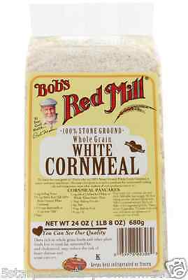 New Bob's Red Mill White Cornmeal Whole Grain Natural Flour Mixes Low Fat Health