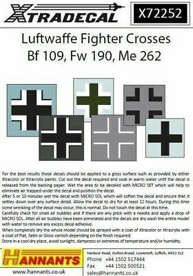 Xtradecal X72252 1/72 Luftwaffe Fighter Crosses Model Decals