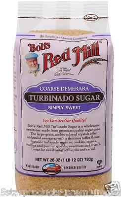 New Bob's Red Mill Turbinado Sugar Sweetener Snack Groceries Cooking Food Lunch