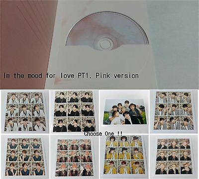 BTS 3rd Mini Album In the mood for love PT.1 CD selected photocard K-POP Pink