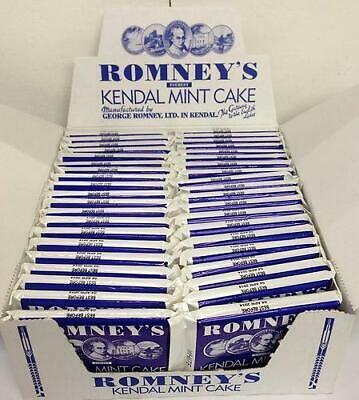 Romneys 85g Medium - WHITE Kendal Mint Cake x 40 bars bulk