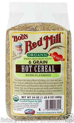 New Bob's Red Mill Organic Whole Grain Right Stuff 6 Grain Hot Cereal Flaxseed