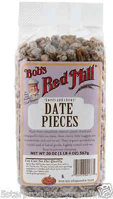 New Bob's Red Mill Date Pieces Baking Dreid Fruit Snack Food Groceries Lunch