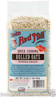 New Bob's Red Mill Quick Cooking Rolled Oats Whole Grain Nutrient Rich Cereals
