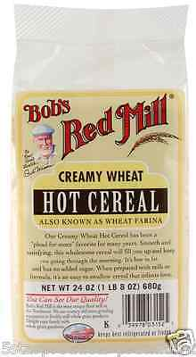 New Bob's Red Mill Creamy Wheat Hot Cereal Low Fat Cereals Breakfast Foods Lunch