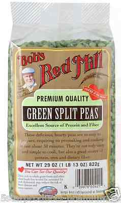 New Bob's Red Mill Green Split Peas Protein Fiber Source Beans Food Lunch Cook