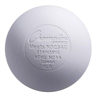 120 New Champion Official Lacrosse Game Balls NOCSAE SEI NFHS White