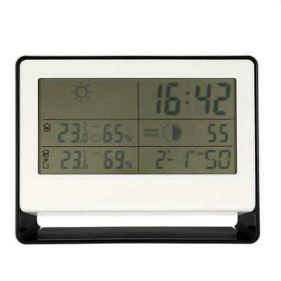 Wireless RF Receiving Weather Station Clock Digital Thermometer Hygrometer