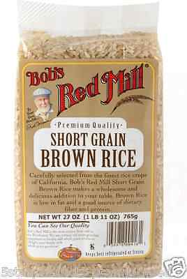 New Bob's Red Mill Short Grain Brown Rice Low Fat Dietary Fiber Protein Lunch