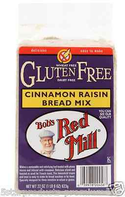 New Bob's Red Mill Gluten Wheat Free Cinnamon Raisin Bread Mix Flour Baking Food