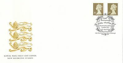 (88461) CLEARANCE GB FDC 1st 26p Gold Definitives Westminster Abbey 21 Apr 1997