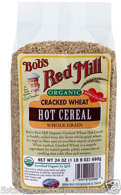 New Bob's Red Mill Organic Cracked Wheat Hot Cereal Breakfast Food Whole Grain