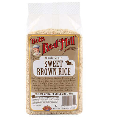 New Bob's Red Mill Sweet Brown Rice Whole Grain Food Low Fat Lunch Daily Healthy
