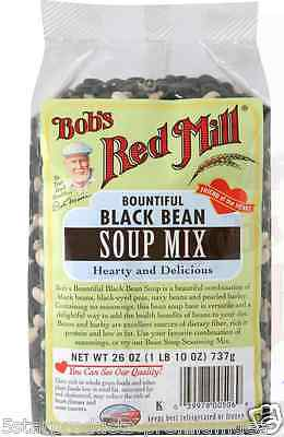 New Bob's Red Mill Bountiful Black Bean Soup Mix Food Healthy Low Fat Fiber Diet