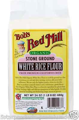 New Bob's Red Mill Organic Stone Ground White Rice Flour Mixes Gluten Free Food